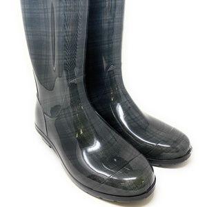 UGG Womens Tall Shaye Green Rubber Rain Boots